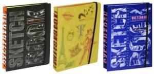 Скетчбуки «Визуальный курс рисования» от издательства «Эксмо»